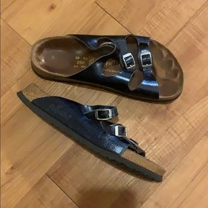 Blue metallic BIRKENSTOCK Papillio Sandals 39 / 8